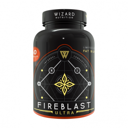 Wizard Nutrition FireBlast Fat Burner Ultra - Limited Edition 60cap (Dented Container)