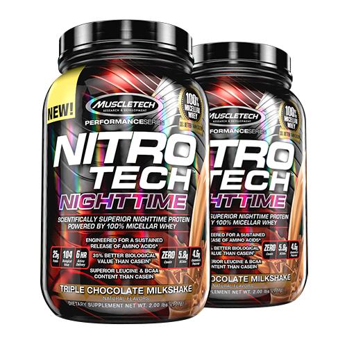 MuscleTech Nitro-Tech Nighttime Protein 4lb 06/18 Dated