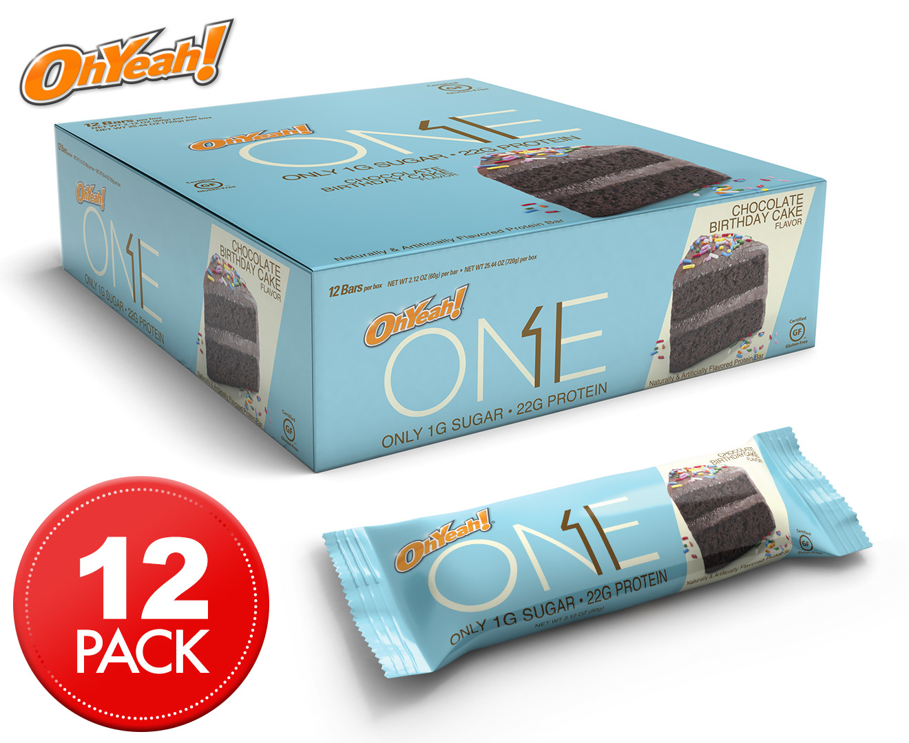 Box of Oh Yeah! One Bars by Oh Yeah Nutrition - Protein Bars (dated stock)