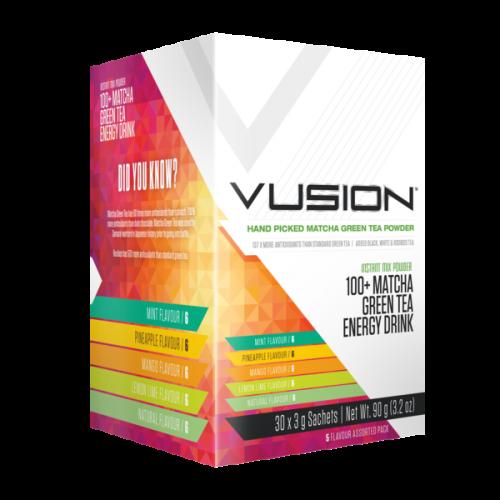 Vusion 100+ Matcha Green Tea 30 Serve - Assorted